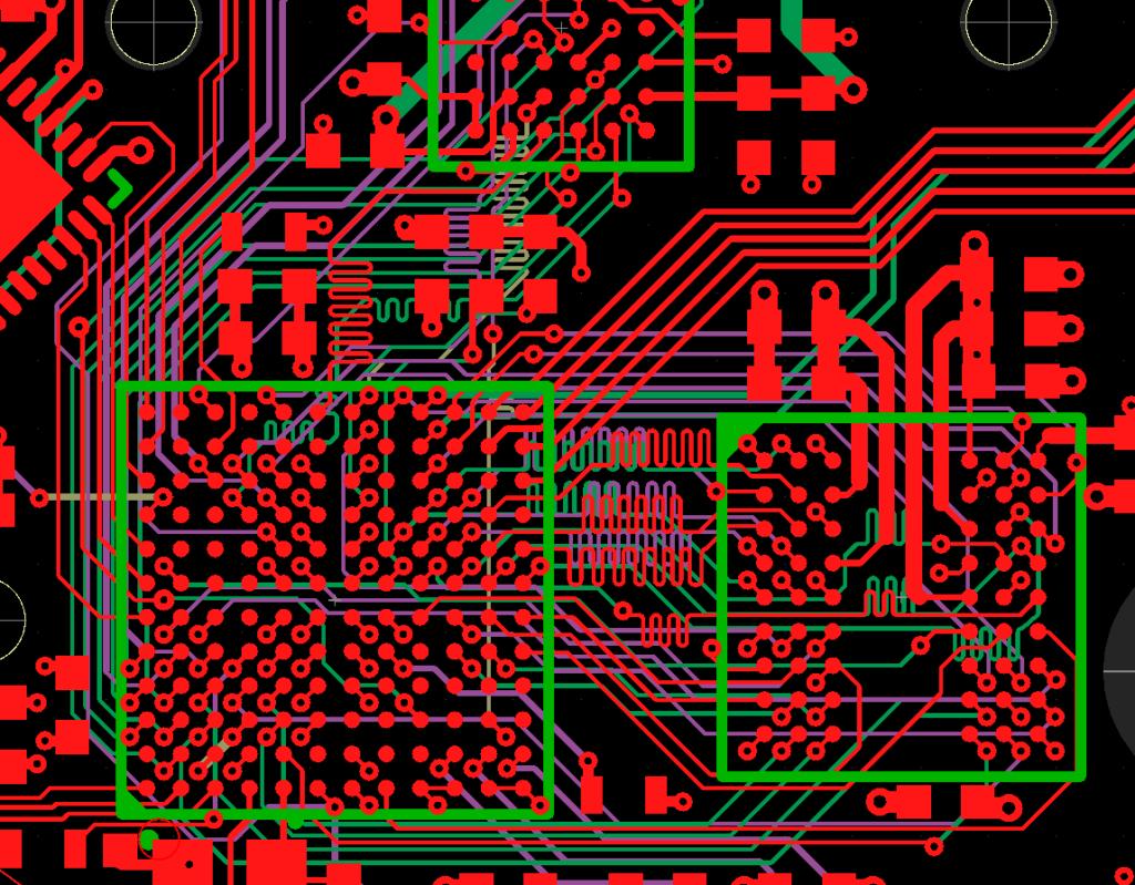 STM32 SDRAM pcb layout banner