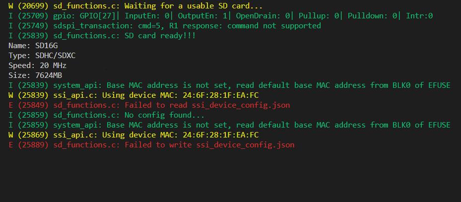 esp32 cannot save json file sd card